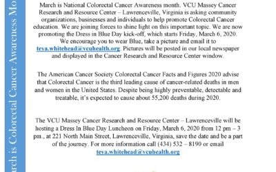 Dress In Blue for Colorectal Cancer